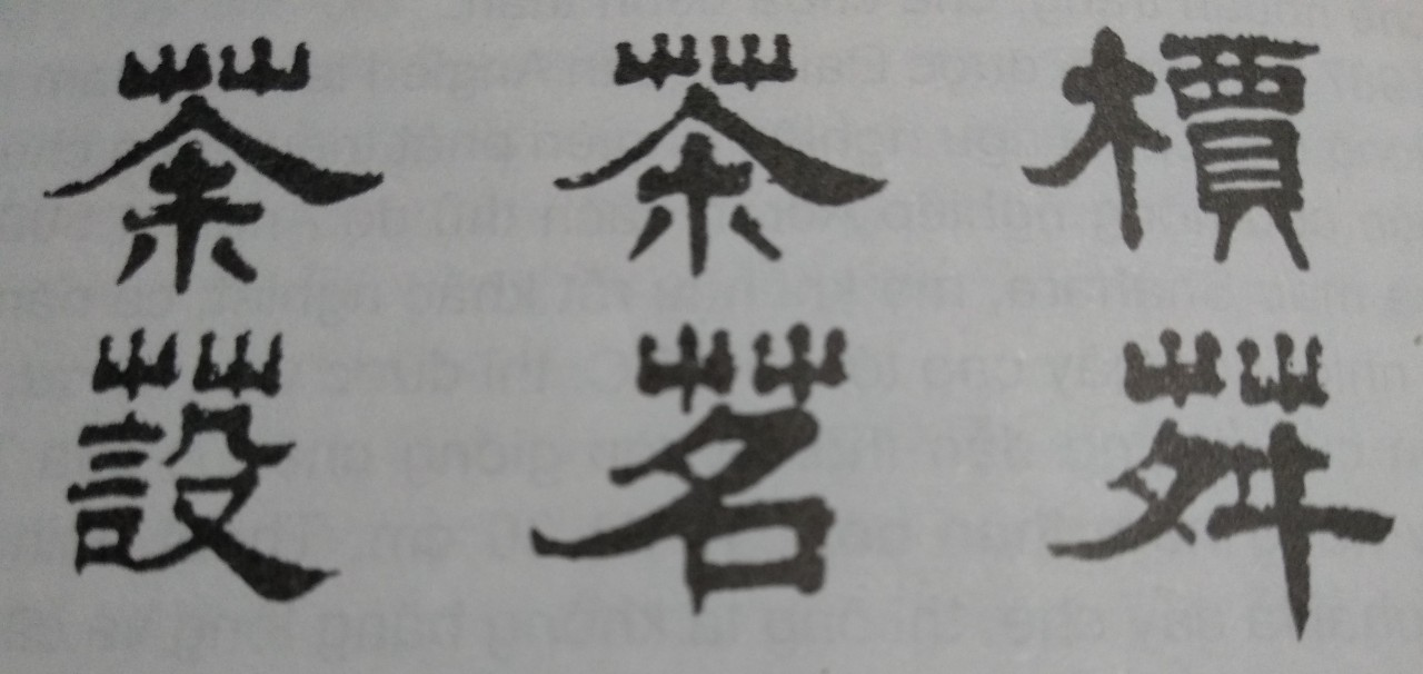 Chữ viết về chè